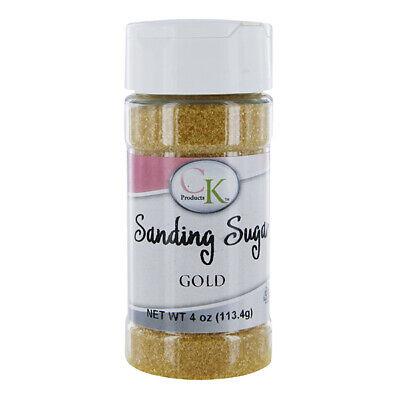 CK Sanding Sugar Gold 4 Ounces | Sprinkles | Cake | Cupcakes | Cookies