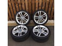 """Bmw 1 & 2 Series F20 F22 """"18"""" M Sport Wheels Bridgestone Runflat 6mm Tyres"""
