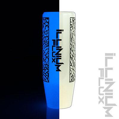 ILLINIUM FLUX BLUE PAINTED WHITE SAKURA BLOSSOM MANUAL SHIFT KNOB 12X1.25 K15