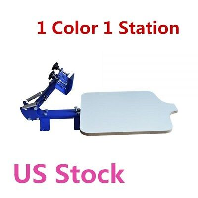 Usa Stock 1 Color 1 Station T-shirt Silk Screen Printing Machine