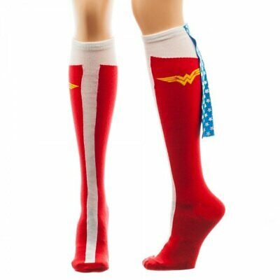 Wonder Woman Knee High Socks with Cape DC Comics Justice League (Wonder Woman Socks With Cape)