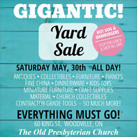 GIGANTIC YARD SALE - YOU'VE NEVER BEEN TO A SALE THIS BIG!