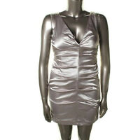 New Women's Onyx Nite Cocktail Party Dress Silver Mink 12