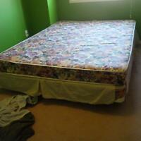 Queen Size Bed with Frame