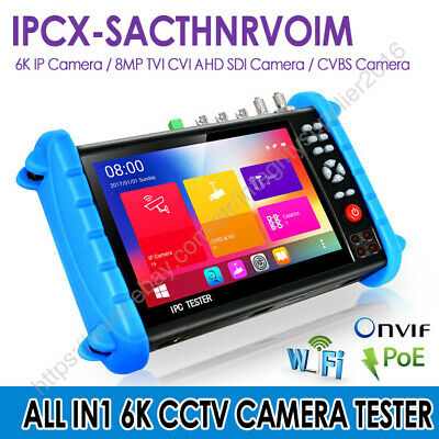 12mp 7 Wifi Ip Cvbs Ahd Cvi Tvi Sdi Hdmi Camera Tester Cctv Ipcx Full Function