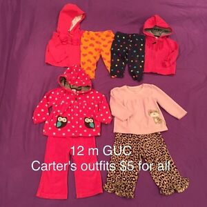 12 month clothing, lots of long sleeves London Ontario image 3