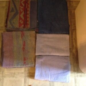 Five towels all blue tones six dollars for all