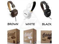 Brand new in box Marshall Major Headphones. Models I; II; II Bluetooth.