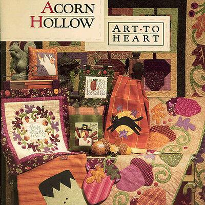 ACORN HOLLOW Nancy Halvorsen Quilt Applique NEW BOOK Autumn Holloween Projects