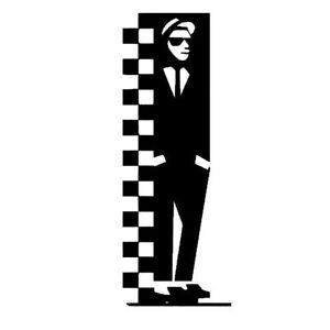 ska two tone mod rude boy scooter vinyl decal car bumper window sticker