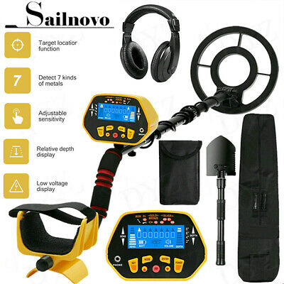 Deep Ground Metal Detector Gold Finders Lcd Display With Waterproof Search Coil