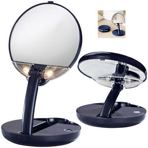 floxite lighted compact travel vanity makeup purse mirror. Black Bedroom Furniture Sets. Home Design Ideas