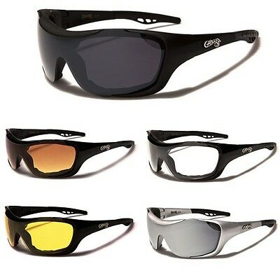 Choppers Mens Womens Padded Motorcycle Riding Sunglasses Sports Biker's (Womens Sports Sunglasses)
