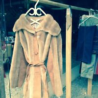 Evening Jacket/Coat Leather and Faux Fur
