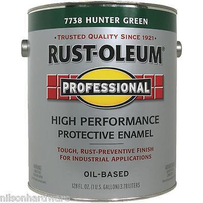 Hunter Green Enamel - 2 Gal Hunter Green Rust-Oleum Protective Rust Control Enamel Paint 7738-402