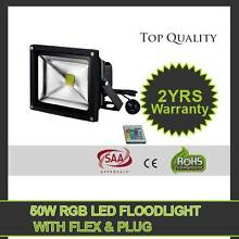 50W RGB LED OUTDOOR FLOOD LIGHT WITH REMOTE CONTROL Greenbank Logan Area Preview
