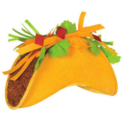 Cinco De Mayo Yellow Fabric Taco Hat Party Costume Selfie Photo Booth Prop - Foam Taco Hat