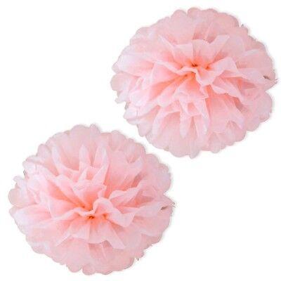 Pompom, ROSA, 2 Stk, Puffbälle für Party-Raum-Dekoration, Babyshower ()