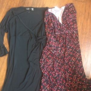 Wrap around maternity  dresses