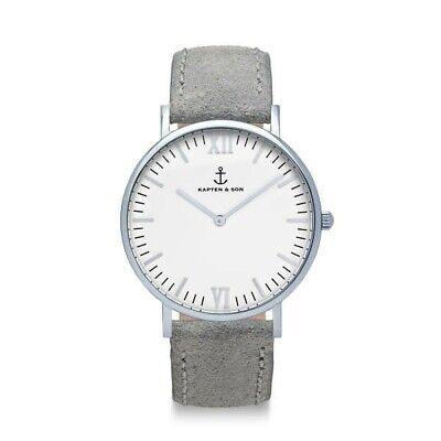"Kapten & Son Campus Silver ""Grey Vintage Leather"""