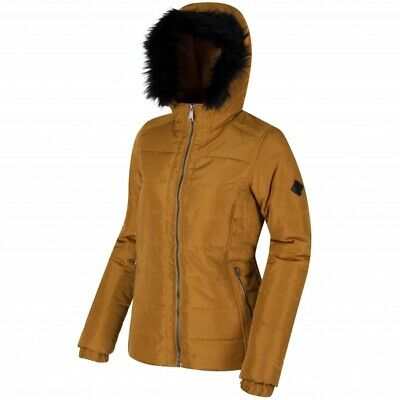 Regatta Wynne Womens Insulated Water Repellent Jacket Gold Cumin 14