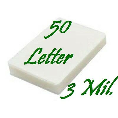 50 Letter Laminating Laminator Pouches Sheets 9 X 11 1 2  3 Mil Scotch Quality
