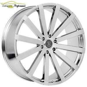 MAGS DÉTÉ CHROME CADILLAC ESCALADE CHEVROLET TAHOE YUKON 24 CHROME NEUFS / ENSEMBLE AVEC PNEUS DISPONIBLE