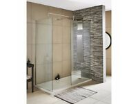 Premier Wet Room Screen 1850mm x 800mm Wide with Support Bar