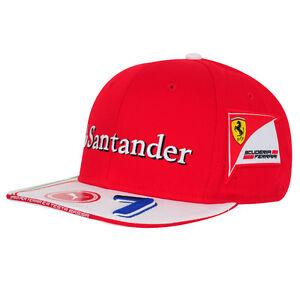 2016 OFFICIAL Scuderia Ferrari Puma F1 Kimi Raikkonen 7 Flat Brim Cap Hat - NEW