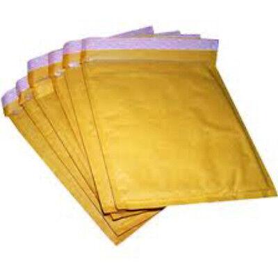 50x Bubble Padded Gold Envelopes 205x245mm Internal Bubblewrap Protection