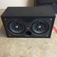 "2 12"" CompS Kicker Subs for sale"