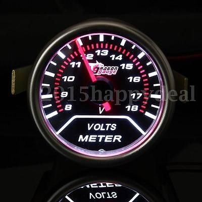 "UNIVERSAL 2"" 52MM CAR LED LIGHT DIGITAL VOLT VOLTAGE VOLTMETER GAUGE METER 12V"