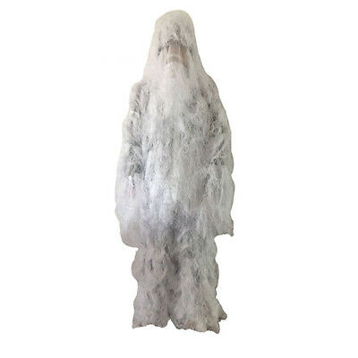 Tactical Ghillie Snow Suit Camouflage Bionic White Costume Photogray Conceal  - Ghillie Suit Costume