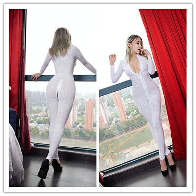 Bodysuit Zentai Suit Adult Catsuit Unisex Fancy Costume Front Zipper Fresh NEW - Adult Catsuit