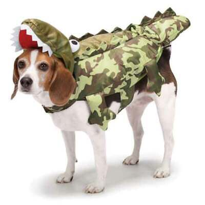 Dog Halloween Costume Green Camo Alligator Padded 3D Reptile Crocodile Outfit  ](Alligator Dog Costume)