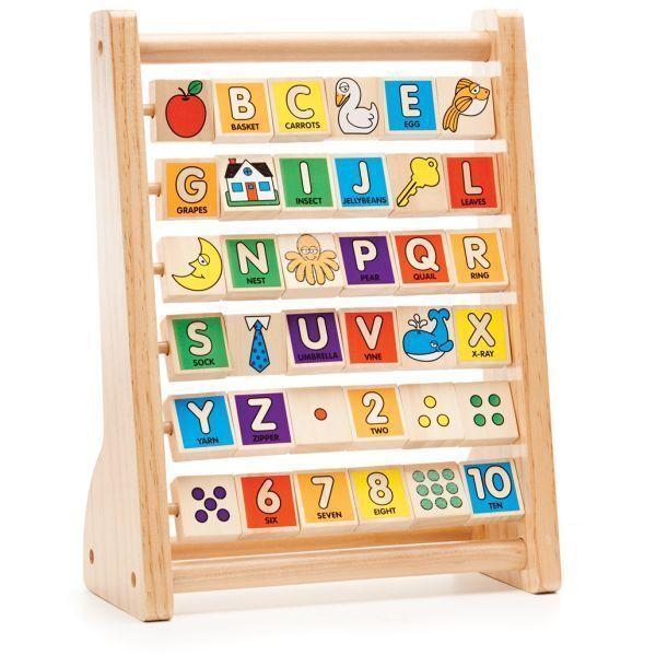 Melissa & Doug ABC-123 36 Double Sided Wooden Abacus MND9273