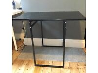Small table / desk extendable folds away