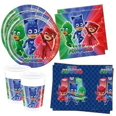 53 tlg. für 16 Kinder  -Teller Becher Servietten Tischdecke (Becher Maske)