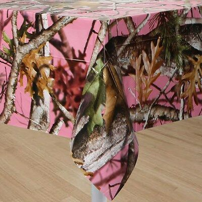 Next Pink Camo Table Cover, Camouflage Tablecloth Wedding Party Birthday