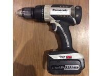 Panasonic 18v drill battery and charger