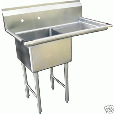 1 Compartment Prep Sink 15x15 With 1 Right Drainboard