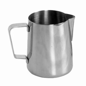 ESPRESSO MILK FROTHING PITCHER 12 OZ STAINLESS STEEL STEAM LATTE Free Shipping