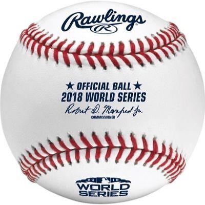 2018 World Series MLB Rawlings Official Baseball