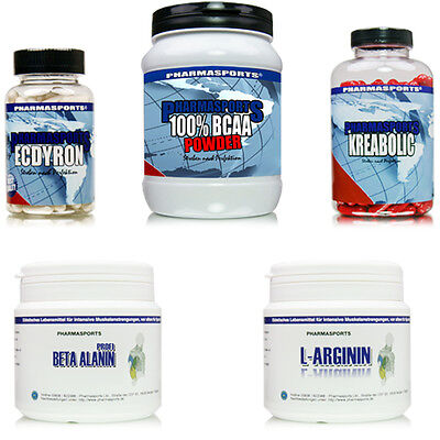 M Muskelaufbau Testosteron Set das Bodybuilding Supplements System !!!