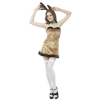 Ladies Fancy Dress Costume Female Reindeer (Ebay Fancy Dress Kostüme)