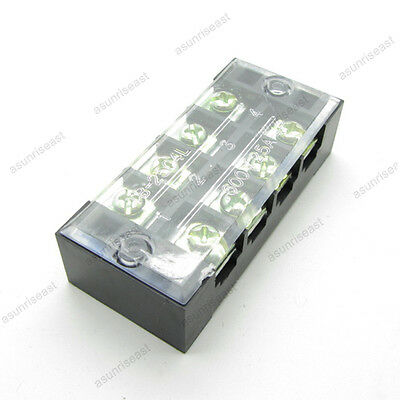 5 Barrier Terminal Block 25a 600v 4 Pole Position Way Tb-2504l For 22-12awg