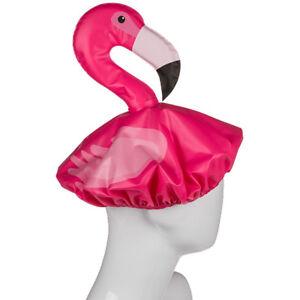 Pink Flamingo Fun Shower Cap Novelty Animal Pink Fancy Dress