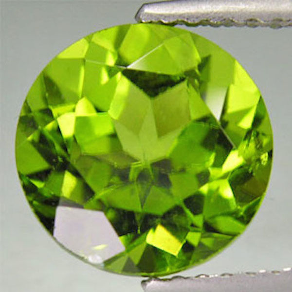 Natural Apple Green Real Peridot AAA Round Faceted Loose Stones (1mm - 10mm)