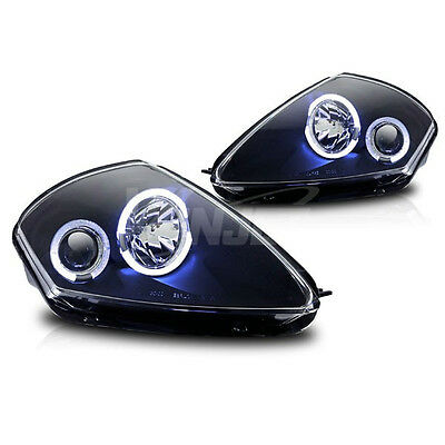 For 00-05 Mitsubishi Eclipse Black  Housing Clear Projector Lens Halo Headlights