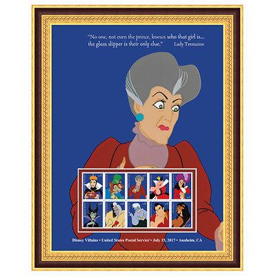 USPS New Disney Villains Lady Tremaine Framed Art